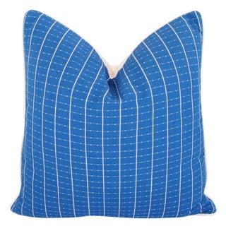 Designer Coastal Blue & White Nautical Pillow