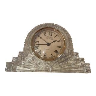 Vintage Godinger Handcrafted 24% Lead Crystal Clock