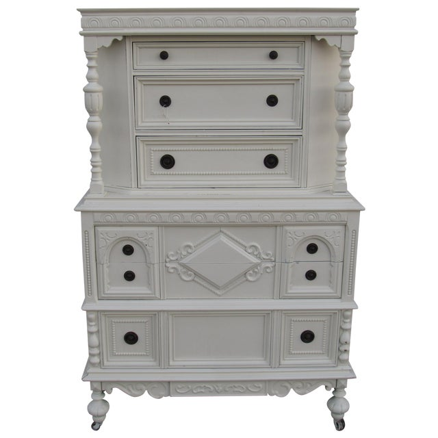 Image of Jacobean/Gothic Highboy Chest Drawers