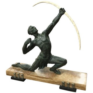 """French Art Deco Sculpture """"The Hunter"""""""
