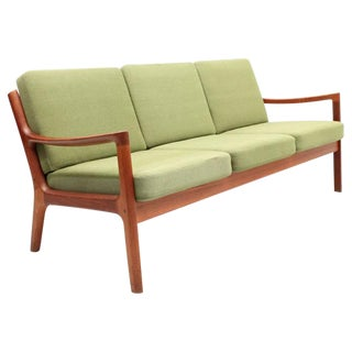 Green Senator Sofa and Chair Designed by Ole Wanscher for France and Son