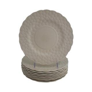 Vintage Spode Creamware Plates - Set of 9
