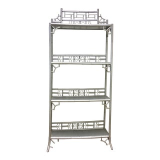 Painted Rattan Indochine Etagere