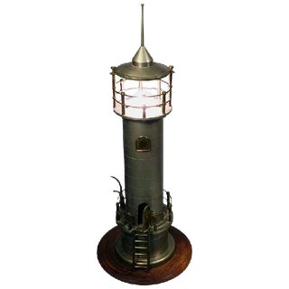 ATMOSPHERIC ART DECO MACHINE AGE LIGHTHOUSE LAMP