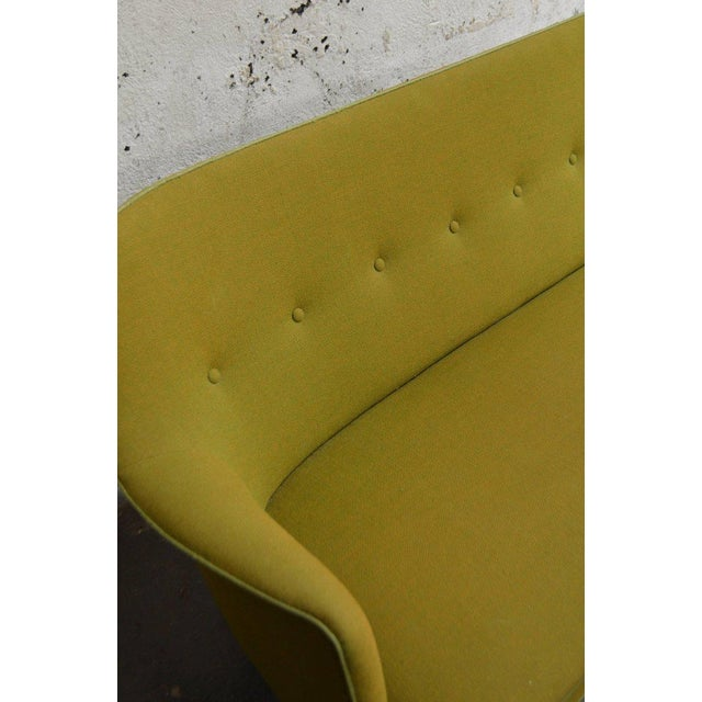 Mid-Century Scandinavian Modern Green Tweed Sofa in the Style of Carl Malmsten - Image 5 of 6