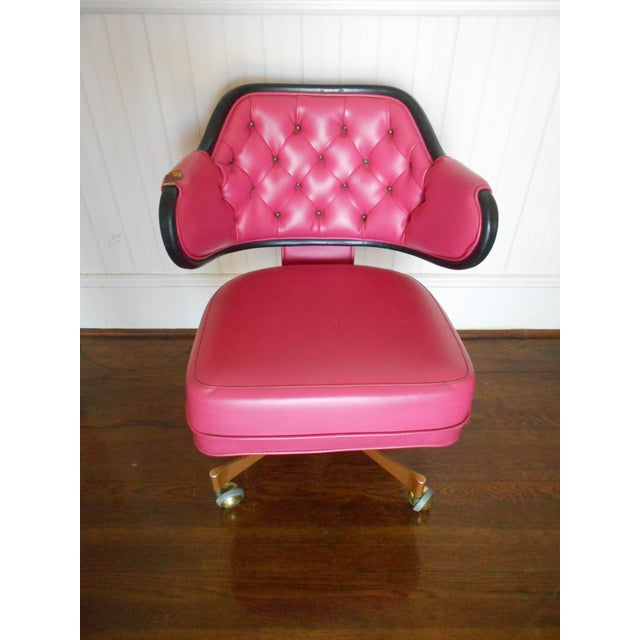 Pink Tufted Swivel Chair - Image 3 of 10