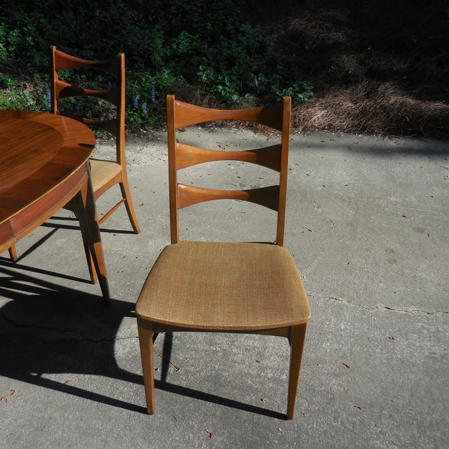 Mid-Century Lane Wood Dining Set - Image 5 of 9
