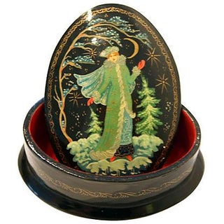 Russian Snow Maiden Lacquer Box