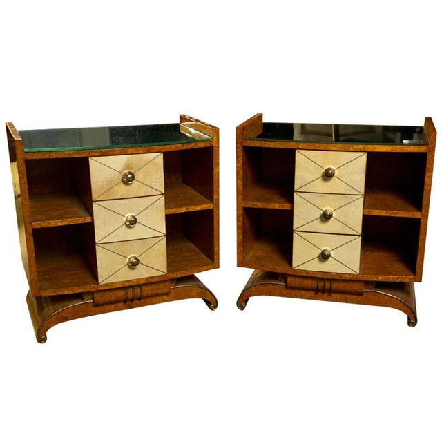 Art Deco Style Nighstands Tables - A Pair - Image 1 of 9