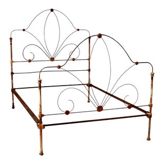 Antique White Iron Bed Frame