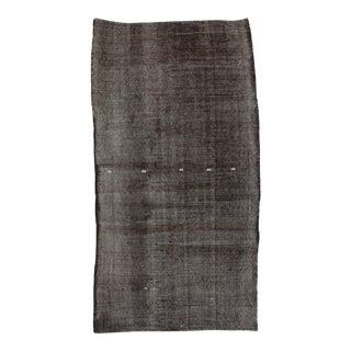 Vintage Turkish Kilim Black Handwoven Rug - 5′5″ × 10′
