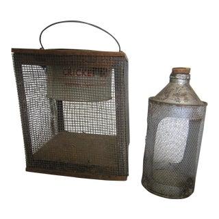 Primitive Cricket Cages - A Pair