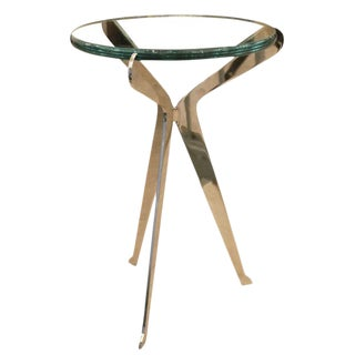 """Fiore Argentato"" Nickel Side Table by Gaspare Asaro"