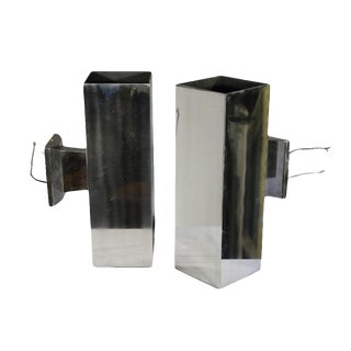 Aluminum Architectural Wall Sconces - A Pair