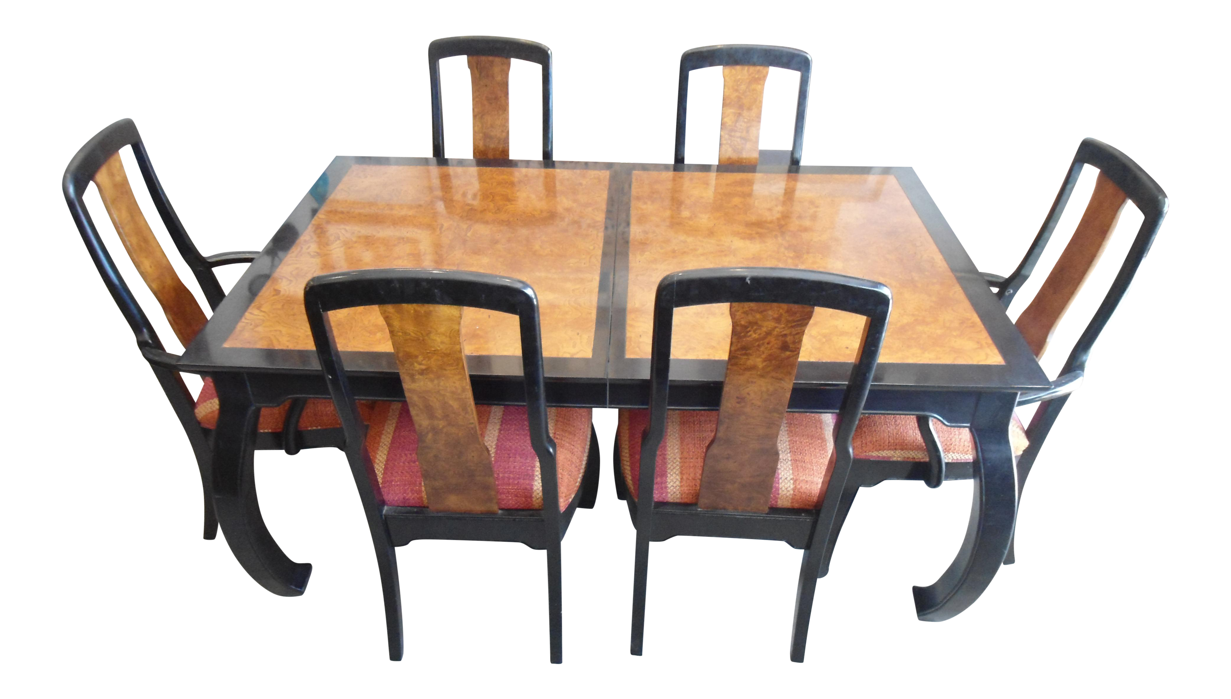 Bernhardt Asian Dining Set   Set Of 7
