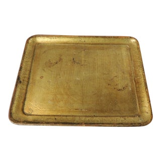 Vintage Italian Gold Leaf Serving Tray