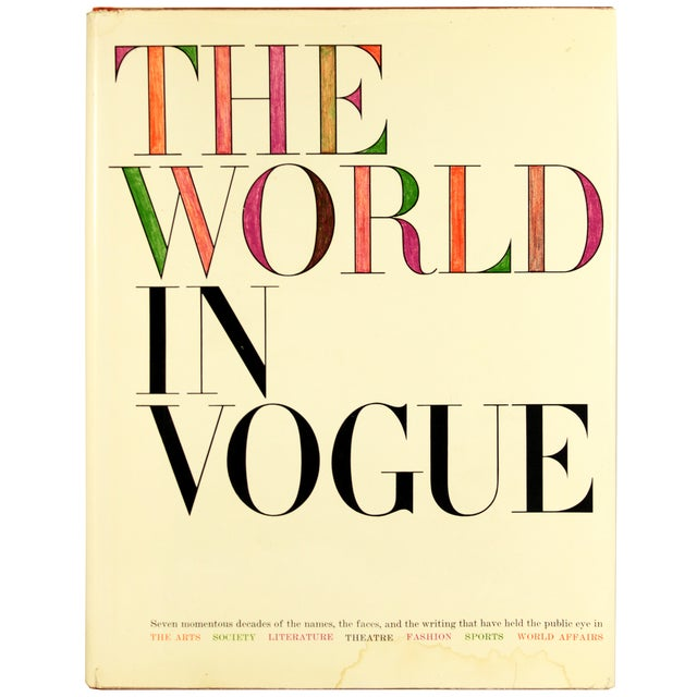 Image of Vintage 'The World in Vogue' First Ed. Book