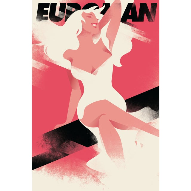 Mads Berg 'Euroman' Retro Deco Danish Poster - Image 1 of 2