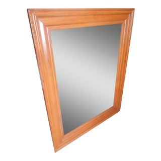 Vintage Mid Century Modern Solid Teak Wall Mirror