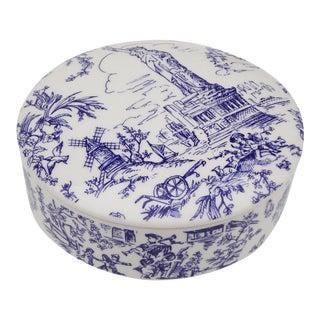 Tiffany & Co. Blue & White Lidded Trinket Bowl