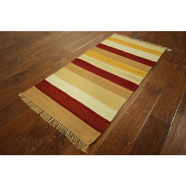 "Vegetable Dyed Navajo Style Kilim Rug - 2' x 4'3"" - Image 3 of 5"