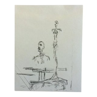 """The Search"" Alberto Giacometti Drypoint Etching"