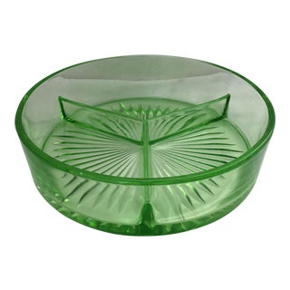 Depression Era Green Glass Ashtray