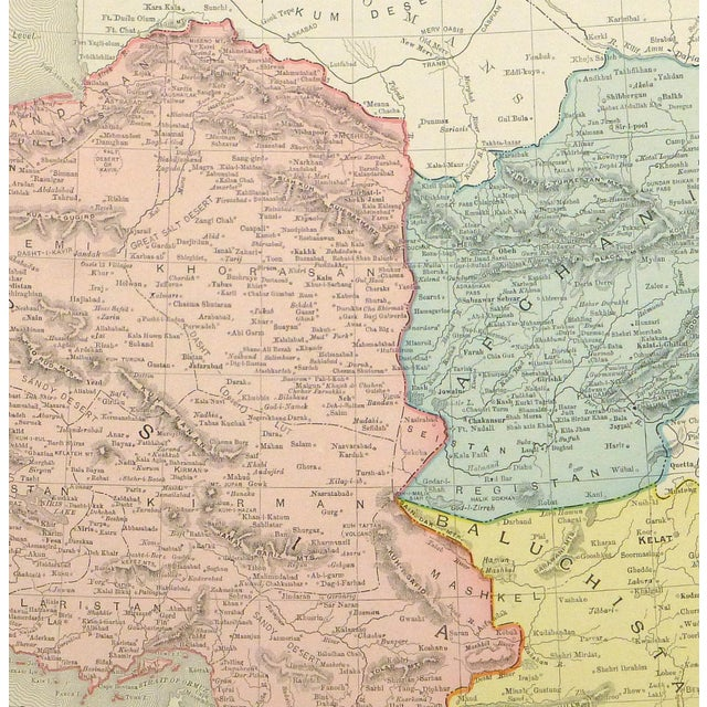 Vintage Map of Persia & Afghanistan, 1895 - Image 2 of 3