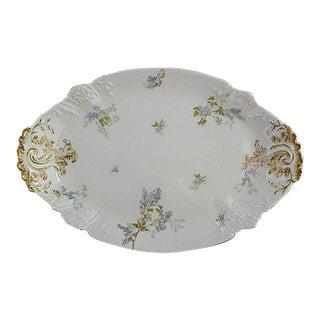 French Haviland Limoges Floral Platter