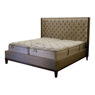 Stanley Tufted Upholstery King Sized Bed