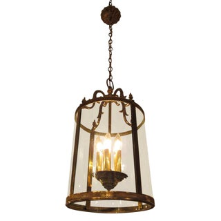 Cast Brass Italian 4-Light Lantern