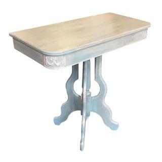 Blue & Cream Demi-Lune Table