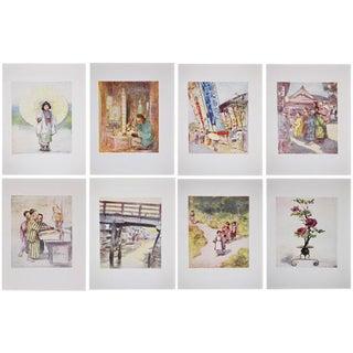 Lithographs of Japan by Mortimer Menpes - Set of 8