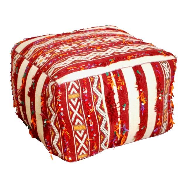 berber kilim pouf chairish. Black Bedroom Furniture Sets. Home Design Ideas