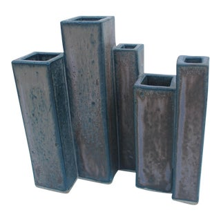Mid-Century Drip Glaze Studio Pottery Vase