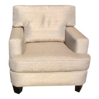 Brand New Upholstery Custom Made Silk Lawson Club Chair