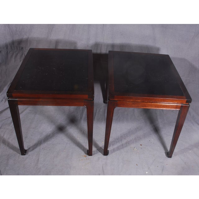 Image of Mid-Century Modern Mahogany End Tables - A Pair