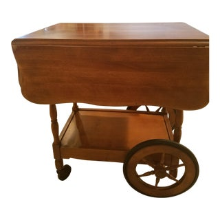 Antique Maple Beverage Cart