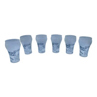 Retro Cocktail Soda Seltzer Glasses - Set of 6