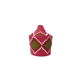 'Strawberry Field' Moroccan Woven Bread Basket
