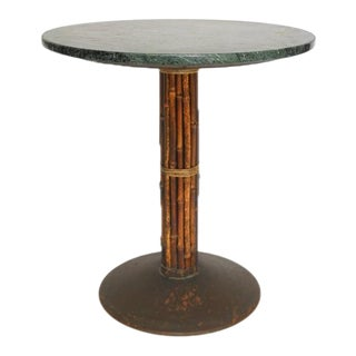 McGuire Bamboo & Marble Bistro Table