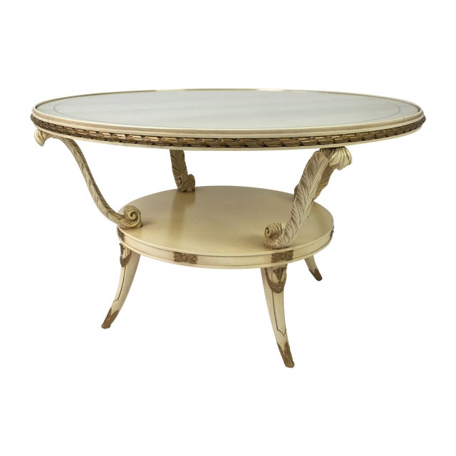 Hollywood Regency Carved French Style Coffee Table Chairish