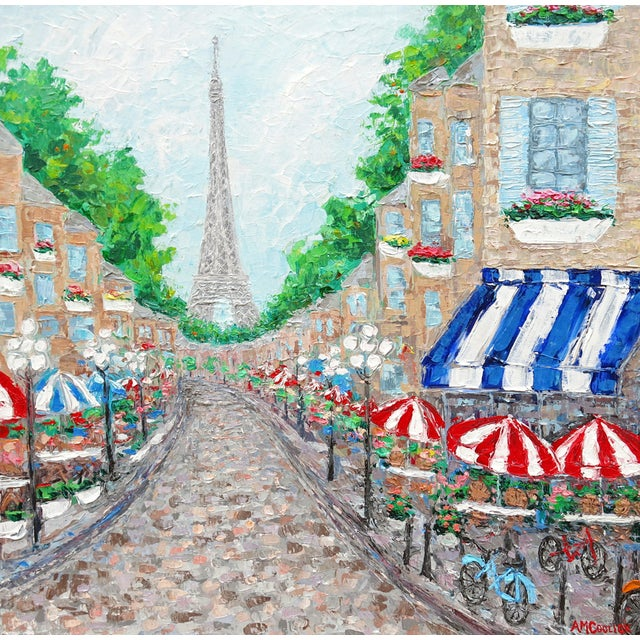 Image of 'Paris on My Mind' Textured Acrylic Painting