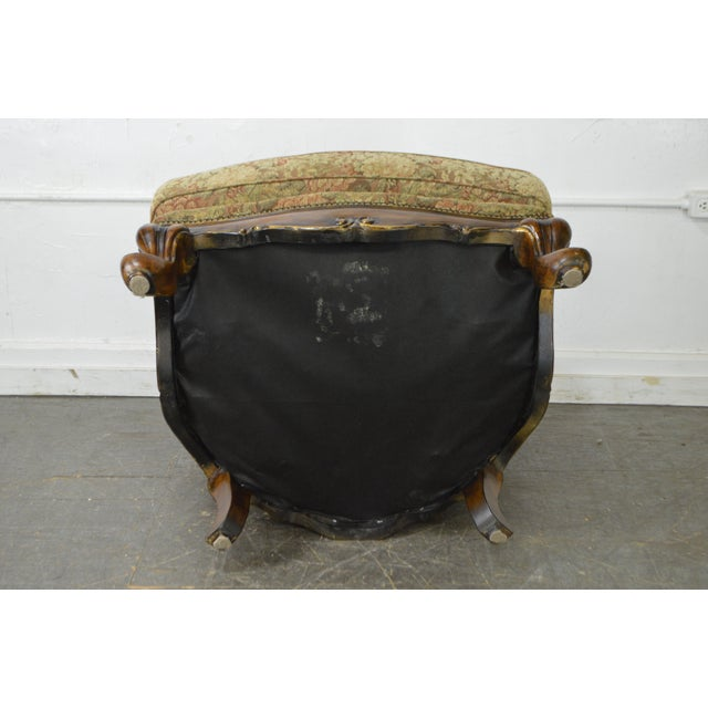 Schnadig Compositions French Louis XV Style Tufted Bergere Lounge Chair - Image 6 of 10
