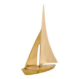 Large Brass Sailboat