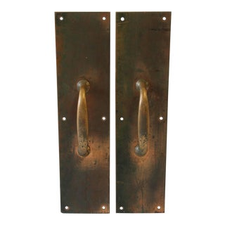 Antique Copper and Brass Entry Door Pull Hardware