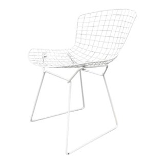 Harry Bertoia Knoll White Dining Chair - a Pair