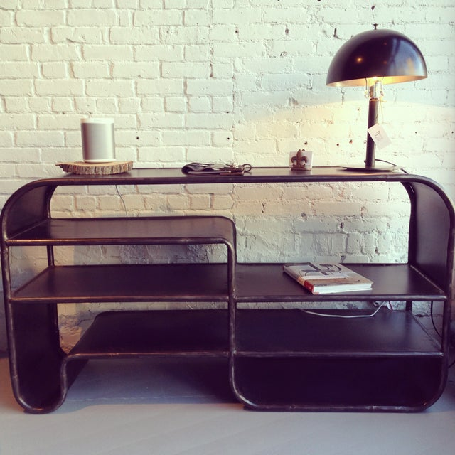 Image of Noir Metal Shelving Console