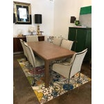 Image of Attributed of Springer Lacquered Wicker & Brass Dining / Game Table with 2 Leaves