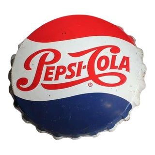 Giant Original Pepsi Cola Cap Sign